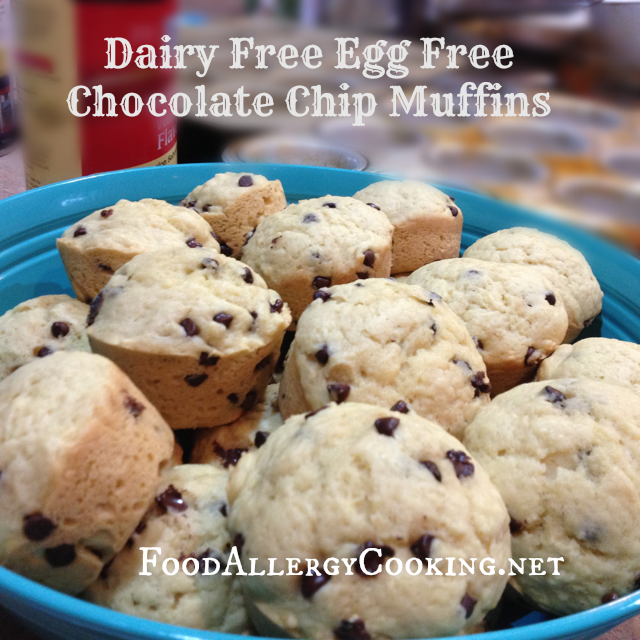 Dairy Free Egg Free Chocolate Chip Muffins